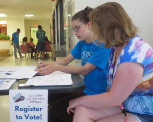 Upstate students part of community voter registration push