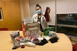 With classmates' help,  medical student reaches out to aid community
